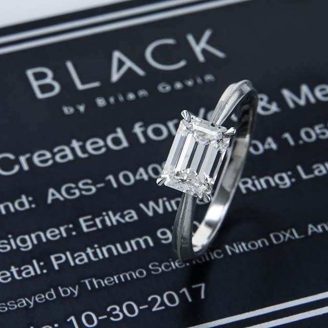 brilyens Black by Brian Gavin Signature Emerald cut diamond