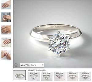 James Allen Reviews presentation solitaire engagement ring