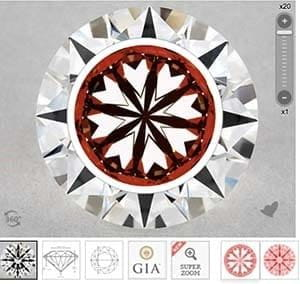 James Allen True Hearts diamonds vs GIA Excellent Cut, SKU 4401419-1289019289 pavilion