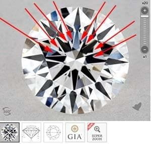 James Allen True Hearts vs GIA Excellent cut diamonds, SKU 3755576, GIA 5182894650