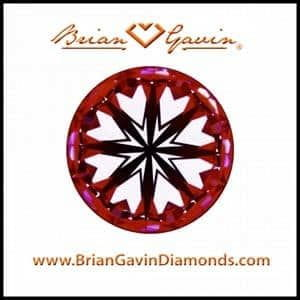 Black by Brian Gavin Hearts & Arrows Diamond.