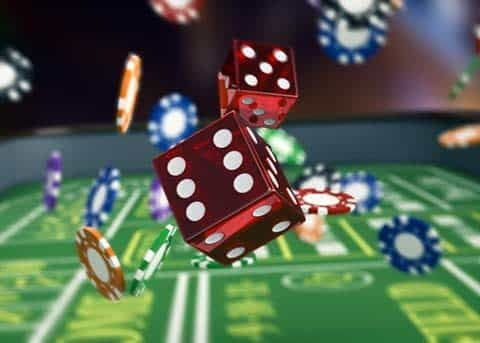 Playing Craps Rolling the Dice