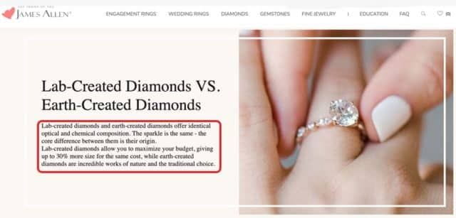 Synthetic Diamond Composition