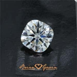 Black by Brian Gavin Cushion cut diamond.