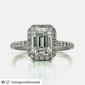 Emerald Diamond Halo Setting Brian Gavin