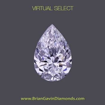 Brian Gavin Virtual Select Pear Shape Diamond Reviews