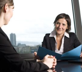 an attorney helping a client with their bankruptcy filing