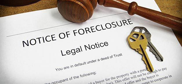 A notice of foreclosure for a case in White Plains, NY.