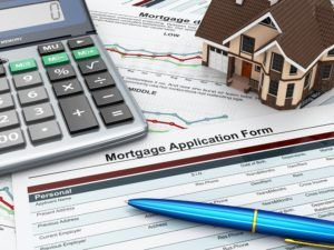 Mortgage house application form with calculator.