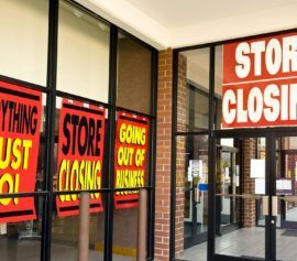 Retail store closing due to bankruptcy.