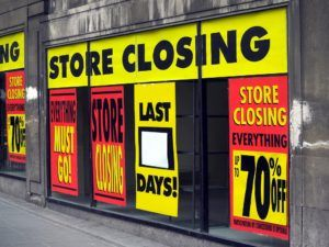 A store going through bankruptcy.