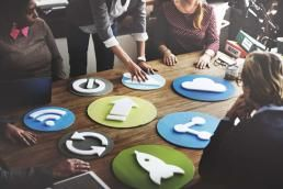 These marketers are moving digital icons on a table