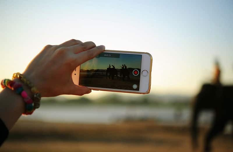 Cellphone is recording video