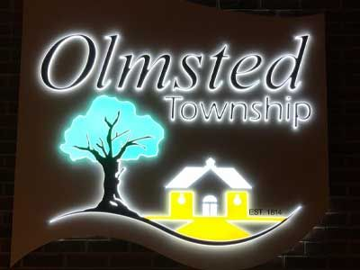Olmsted Township lighted sign