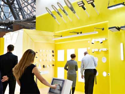 yellow Trade Show display