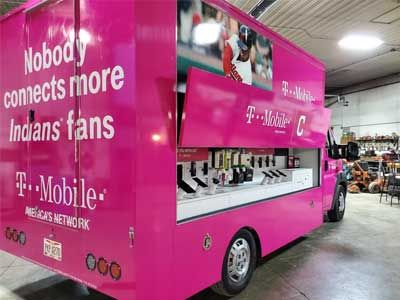 Vehicle wrap for T-Mobile & Cleveland Indians