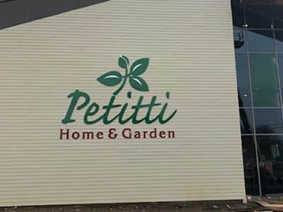Acrylic sign for Petitti Home & Garden Center