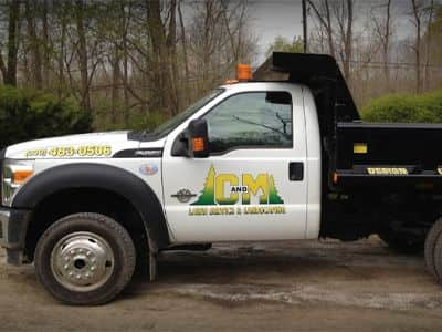 landscaping truck custom decal