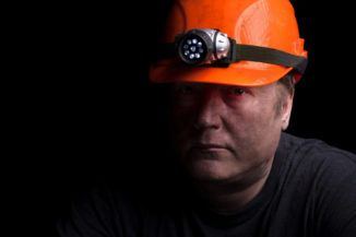 coal mining worker with black lung