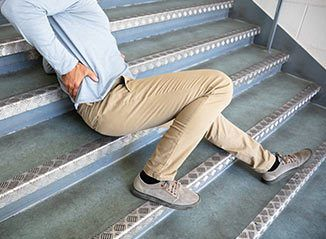 injured on stairs premises liability
