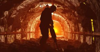 A coal miner at work