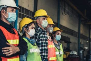 warehouse workers working during covid-19 pandemic