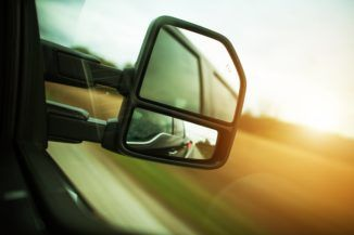 Tractor-trailer sideview mirror