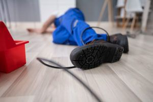 man on floor slip and fall accident
