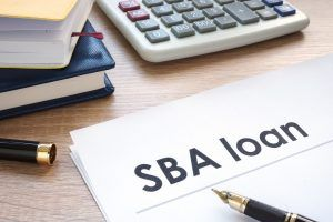 calculator and sba loan paper