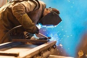Man doing welding