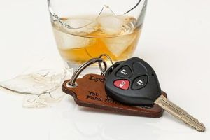 car keys near alcoholic beverage