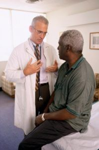 Doctor talking to a patient