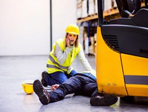 man injured in a work accident