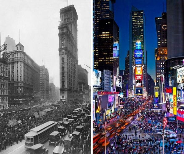 Time square comparison image
