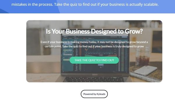 quiz to get readers and email subscribers