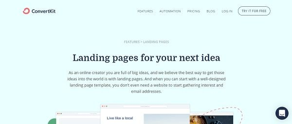 ConvertKit Landing Pages