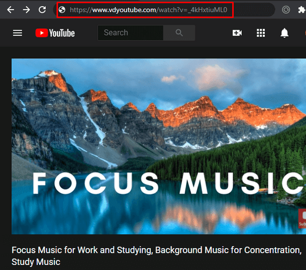Download YouTube Videos with VD - Altering the URL