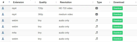 Choosing video quality after entering the URL