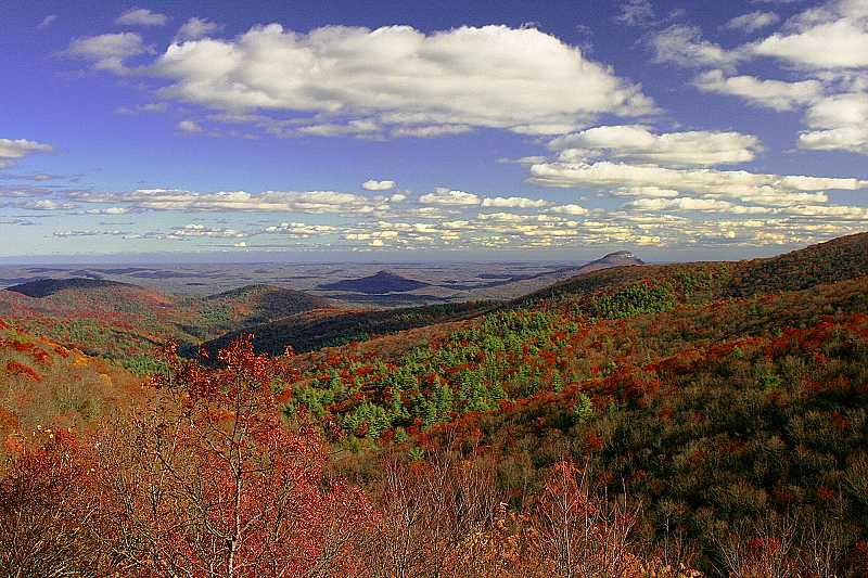 Scenic view of North Georgia Mountains