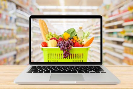 online ordering of groceries from retail store