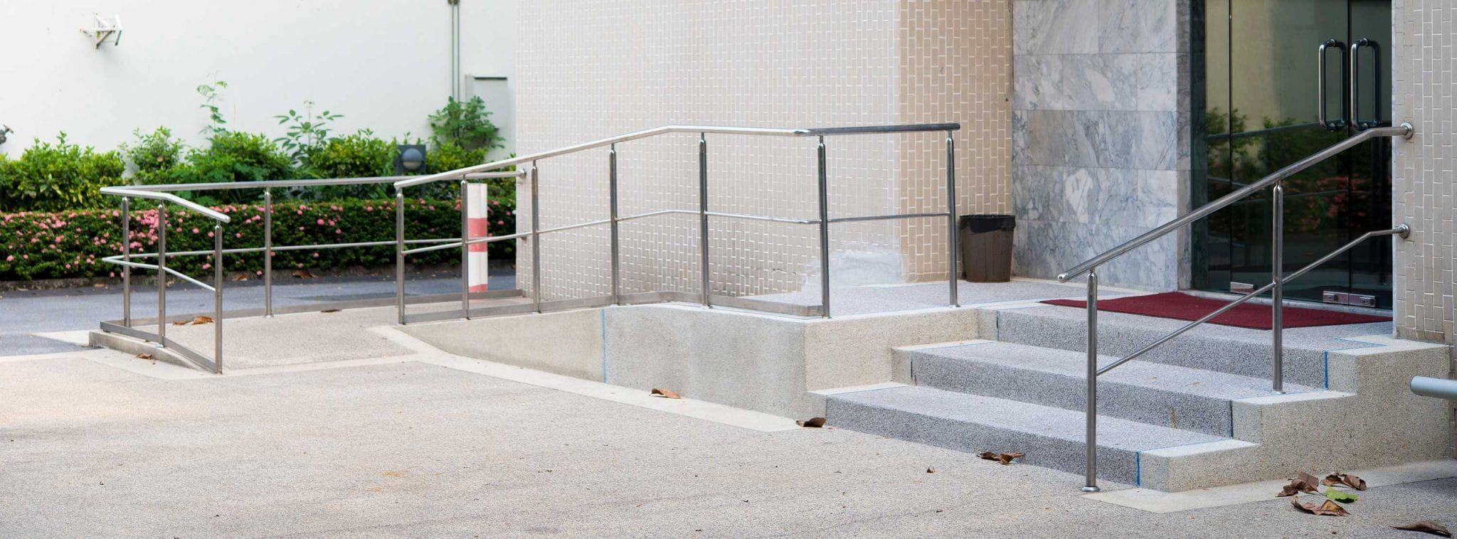 Office space made accessible with ramp