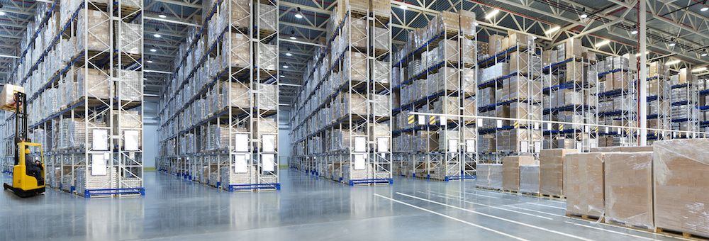 A large warehouse space for lease.