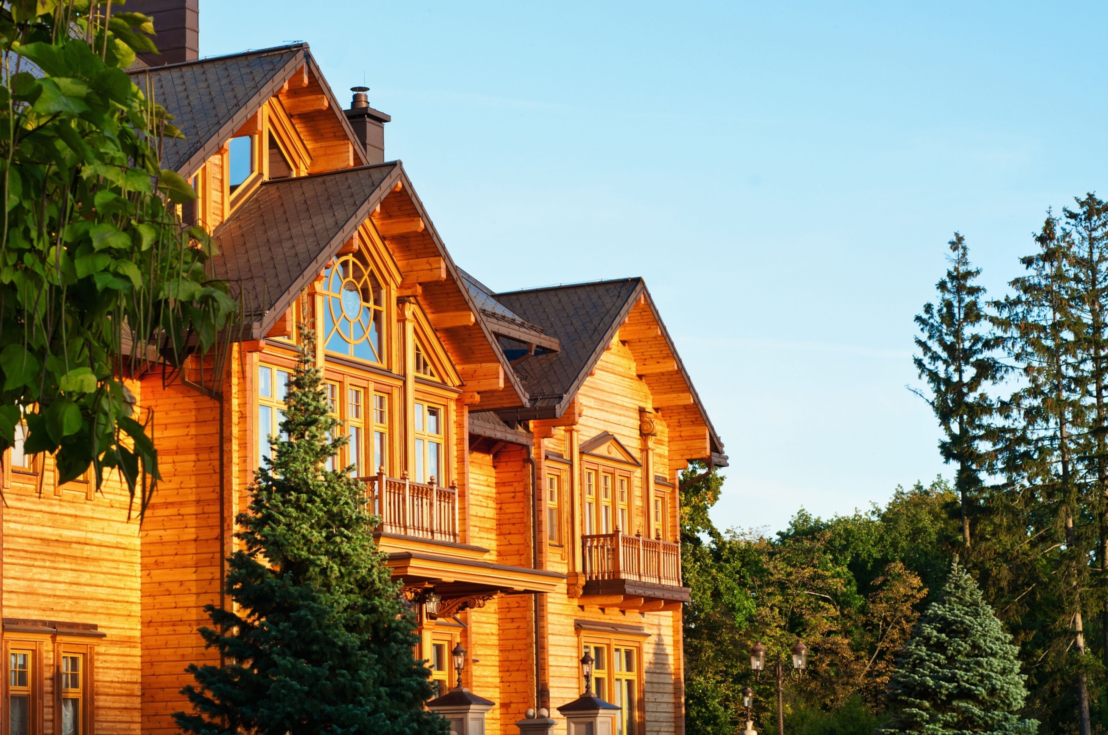 Beautiful wooden residential home in the mountains