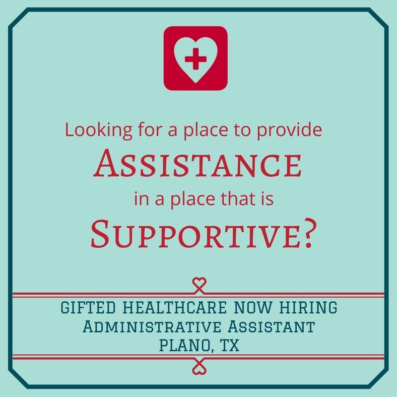 GIFTED is hiring an Administrative Assistant