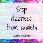 Stop dizziness from anxiety image