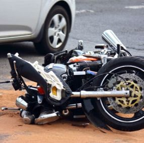 damaged motorcycle from an accident in Louisiana