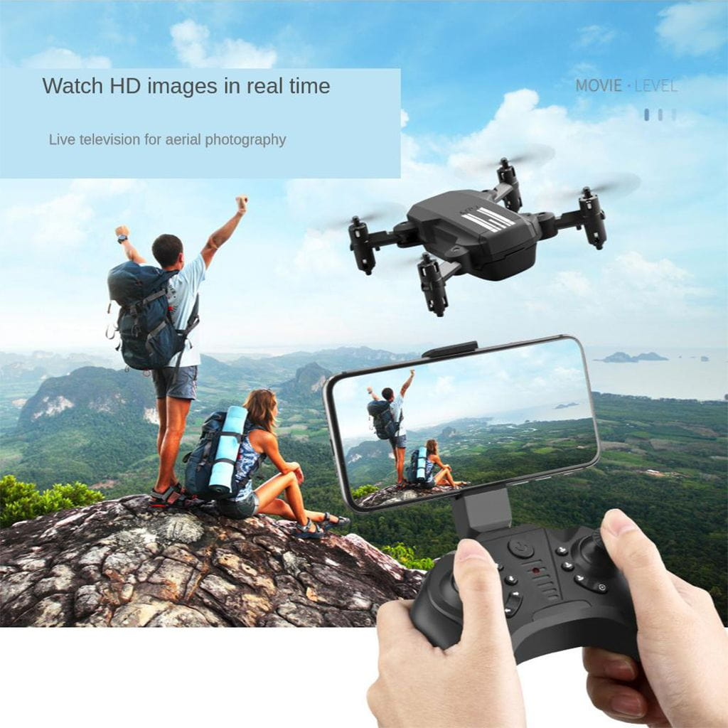 2020 New 2.4G RC Drone Toy Foldable Quadcopter Toys Remote Control Drones FPV 480P/1080P/4K HD Foldable Quadcopter + Battery