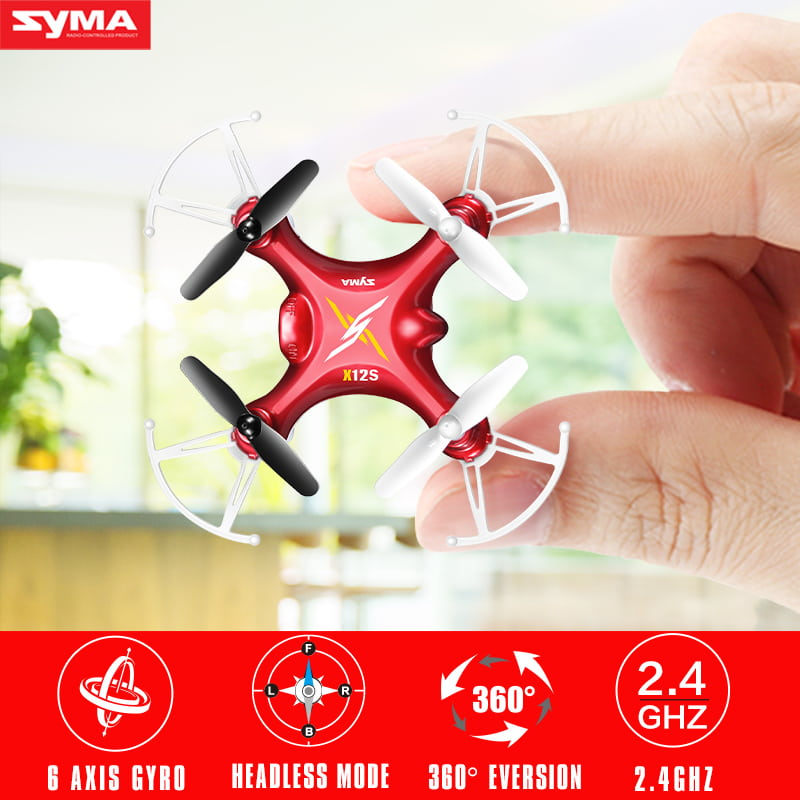 Hot-Sale-Syma-X12S-Mini-Drone-without-Camera-Original-2-4G-4CH-RC-Quadcopter-with-Flashing