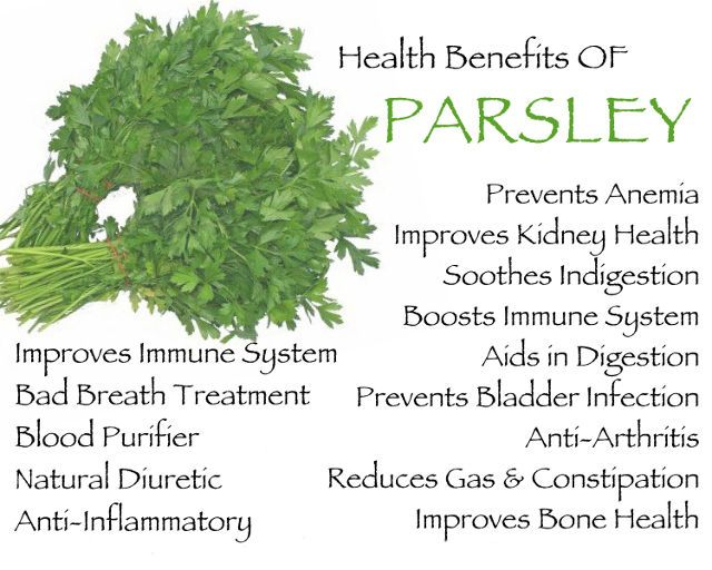 health benefits of parsley infographic