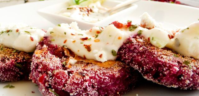 greek zucchini and beetroot fritters recipe